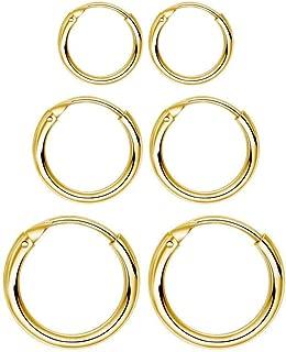 small gold hoop earrings set of 3