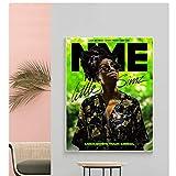Little Simz, revista crack, revista NME, póster de revista, póster de lienzo para decoración del hogar del dormitorio -50x70cm sin marco