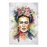 Frida Kahlo Lienzo De Pintura...