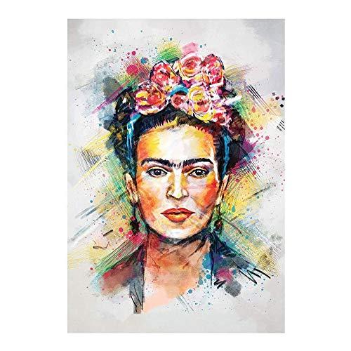 Frida Kahlo Lienzo De Pintura De La Bella Arte De La Decoración Mujeres Cartel De La Pared Impresión En Lienzo Inicio Cuadro De La Decoración Para El Hotel, Dormitorio, Sin Marco,50×70cm