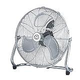 "Image of Ecolighters Cooling Floor or Desk Fan - Small 9"" High Velocity Metal, Industrial Style Fan with 3 speed, Adjustable Chrome Fan, 3-Speed Gym Fan - 28W Copper Motor"