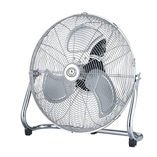 Ecolighters Cooling Floor Fan - 9' High Velocity Metal, Industrial Fan with 3 speed, Adjustable Commercial Chrome Fan, 3-Speed Floor Standing Gym Fan - Powerful 28W Copper Motor