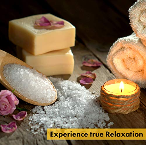 LUMI 100% Pure Beeswax Tealight Candles - 20PC Organic Candles - Fill Your Home with The Warm Glow of Natural Beeswax Candles Tealights