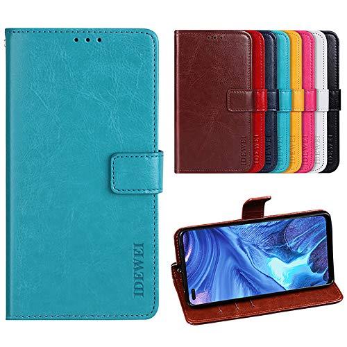 Easyshow Hülle für Cubot Note 7 PU Leder Brieftasche Hülle mit Stand Funktion & Magnetisch Schnalle Flip Handyhülle für Cubot Note 7-Blau