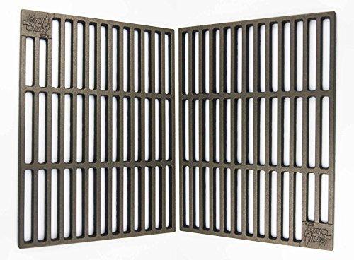 Grillclub 2 Massive Gusseisen Grillroste 41,5 x 27,5 cm, nur 12 mm Stababstand ! u.a. passend für Tepro Toronto, Black Oak, Butternut
