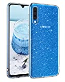 BENTOBEN Samsung Galaxy A70 Hülle Handyhülle Glitzer, Samsung Galaxy A70 Hülle Slim Glitzer Anti Gelb Silikon Bumper Cover Ultra dünn Hülle für Samsung Galaxy A70 Bling Transparent