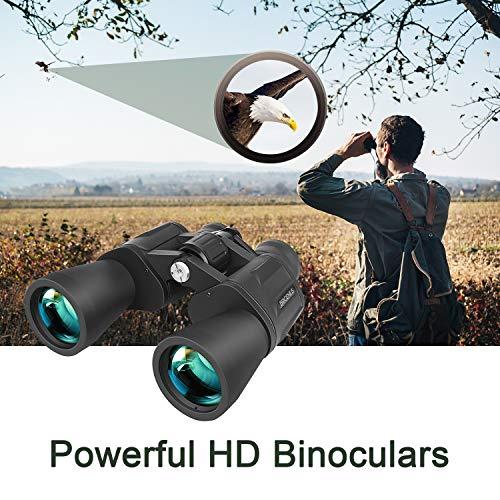 Binoculars, BRIGENIUS 10x50 Binoculars for Adults, BAK7 Full-size Powerful Binoculars for Adults Bird Watching, Football Safari Sightseeing Climbing Hiking Hunting