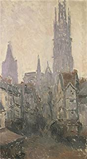 Oil Painting 'La Rue De L' Epicerie A Rouen, 1892 By Claude Monet' 16 x 29 inch / 41 x 74 cm , on High Definition HD canvas prints is for Gifts And Game Room, Home Theater And Nursery decor, deals