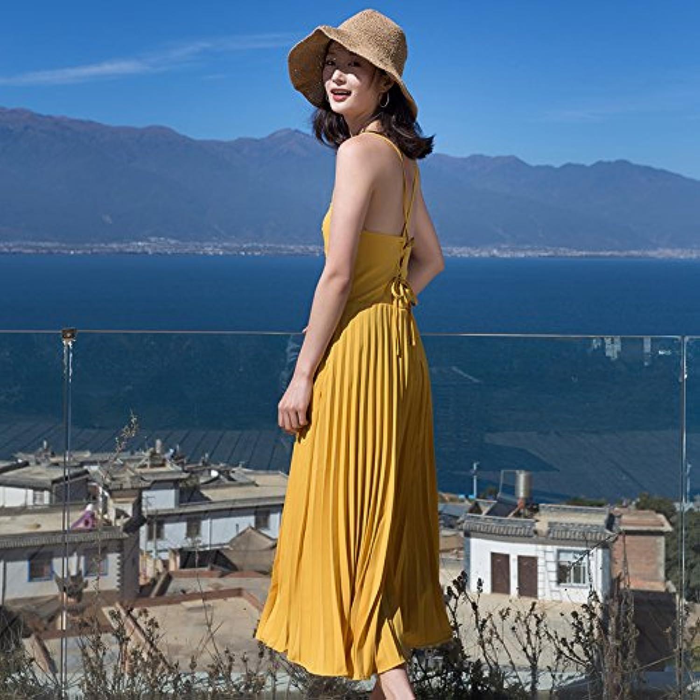 XIURONG Seaside Resort Beach Skirt Skirt Backless Dress Female