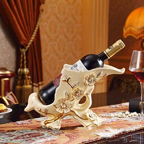 Diseñado para insertarse copas de vino muy fácilmente con m Europeo de cerámica Botellero, hogar creativo decoración de su cuarto de estar botella de vino del soporte de exhibición, Inicio invertido c