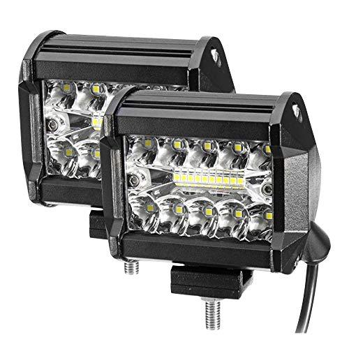 Phare de Travail LED 24000LM 6000K Projecteur LED Voiture 9-32V Etanche IP68 pour Moto Camion Tracteur SUV (2PCS, 4'' 400W)