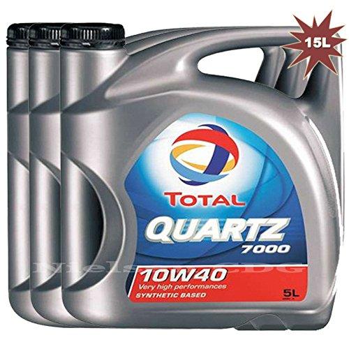 Total Quartz 7000 10w40 - Aceite para motor de gasolina/diese (3 x 5 l, 15 L)