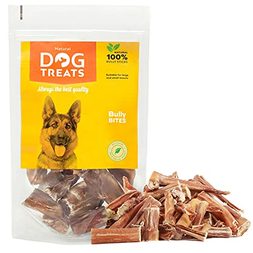100% Naturales Masticables Palos para Perros Bocadillo de Cuero Crudo de Toro, 200 g