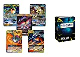 5 GX Ultra Rare Pokemon Cards with pro Support Deck Box
