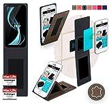 reboon Hülle für Allview X4 Soul Infinity S Tasche Cover Case Bumper | Braun Wildleder | Testsieger
