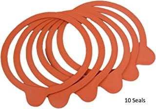 Weck 100mm Rubber Seals / Rings (Set of 10). Fits WECK Models 739 740 741 742 743 744 745 748. Red