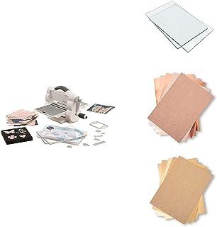 Sizzix Big Shot Kit de démarrage pliable avec accessoires supplémentaires, plaques de coupe et papier cartonné