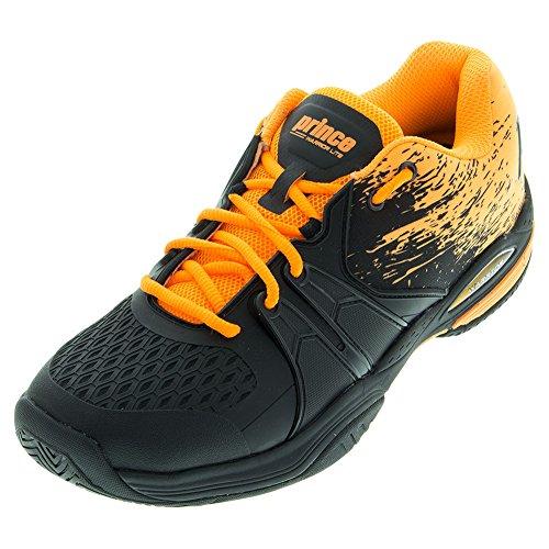 Prince - Zapatillas de Tenis para Hombre Negro Negro/Naranja