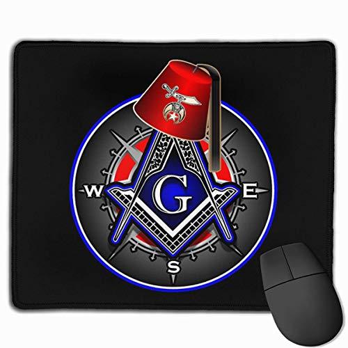 Tappetino per mouse gamer antiscivolo per tappetino da gioco Shriner Fez Freemason Compass