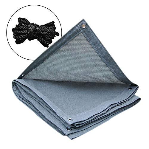 QHGao beschermingsnet voor parasols, multifunctioneel, efficiënte koeling, met metalen gaten, verdikte voor tuin, balkon, auto, oogschaduw (grijs)