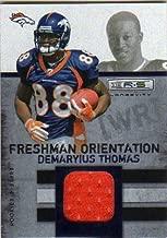 2010 Rookies and Stars Longevity Freshman Orientation Materials Jerseys #18 Demaryius Thomas Game-Worn Jersey Card Serial #/249