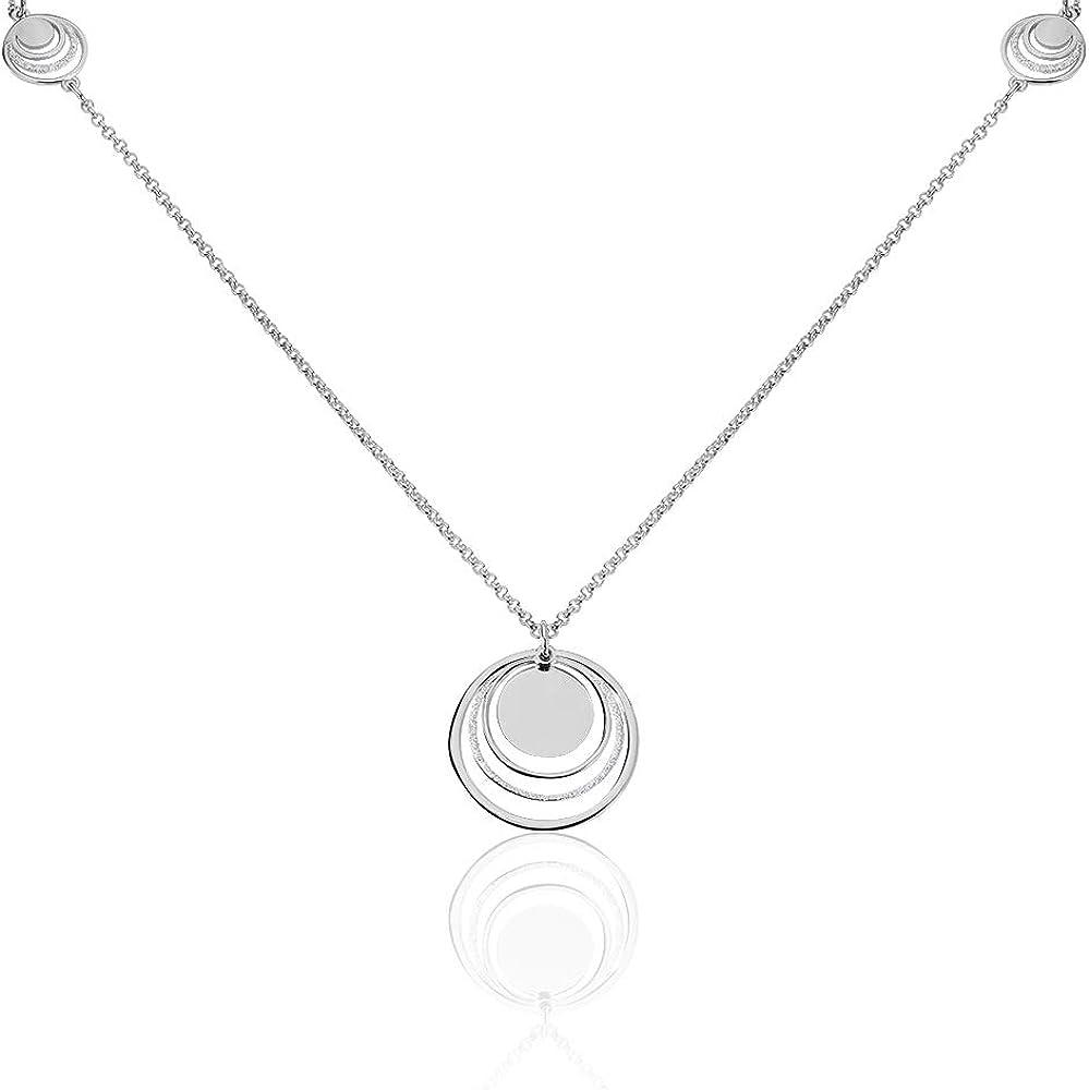 Stroili - collana per donna in ottone rodiato e glitter  - heaven 1660971