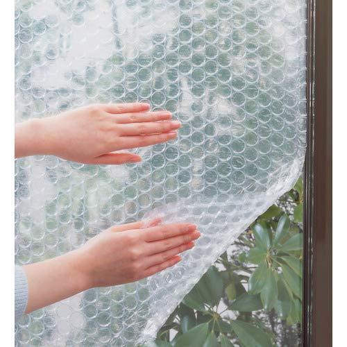 ニトムズ窓ガラス結露防止シート水で貼れる幅90cm×長さ1.8m×厚さ約7mm1枚入E1590