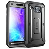 Galaxy S6 Active Case, SUPCASE Full-body Rugged Holster Case with Built-in Screen Protector for Samsung Galaxy S6 Active 2015 Release Will Not Fit Galaxy S6 Unicorn Beetle PRO Series - Retail Package (Black/Black)