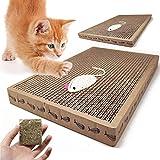 BPS 2Pcs Rascador Gatos Rascador de Cartón Juguetes Gatos Accesorio Ideal para Afile Las Uñas (2 Pcs 24x39x3.5cm) BPS-1853 * 2