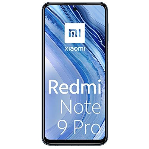 Xiaomi Redmi Note 9 Pro - Smartphone Débloqué 4G (6.67 Pouces - 6Go RAM - 64Go Stockage, 5020mAh, Quad Caméra – NFC) Noir avec reflets bleus - Version Française Exclusivité Amazon