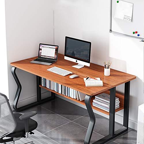 Escritorio De Computadoras Para El Hogar,Con La Mesa De Escritura De Marcos De Metal Resistente,Notebook Desk Compact Simple,Para Home Office Sturdy Home Office Desk(Marrón 47.24*23.62*28.74in