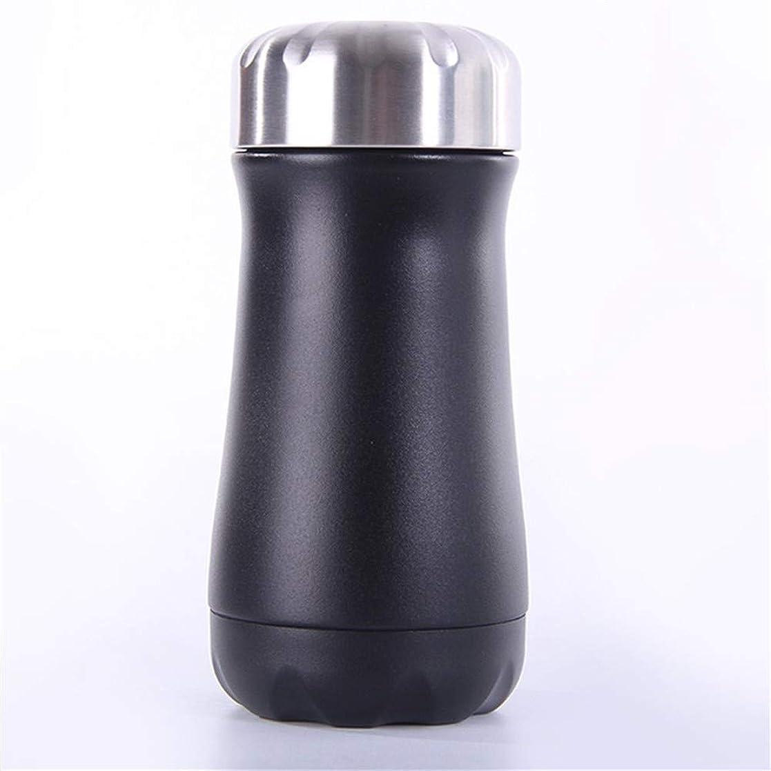 進む関税条約屋外ポータブルスプレーボトルステンレスマグ 便利さ (Color : Black, Size : 350ml)