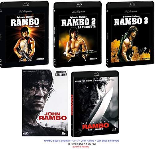 RAMBO Saga Completa (1+ 2 + 3 + John Rambo + Last Blood) (5 Film) (5 Dvd + 4 Blu-ray)