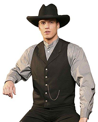 Stars & Stripes Old Style Western Weste EARP Vintage Oldstyle Weste Westernkleidung Westernbekleidung (Small) Schwarz