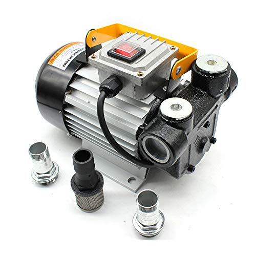 Fetcoi Elektrische Dieselpumpe Selbstansaugend - Heizölpumpe Biodiesel 60l/min Automatische Ölabsaugpumpe Umfüllpumpe Fasspumpe Dieselförderung für Diesel&Heizöl