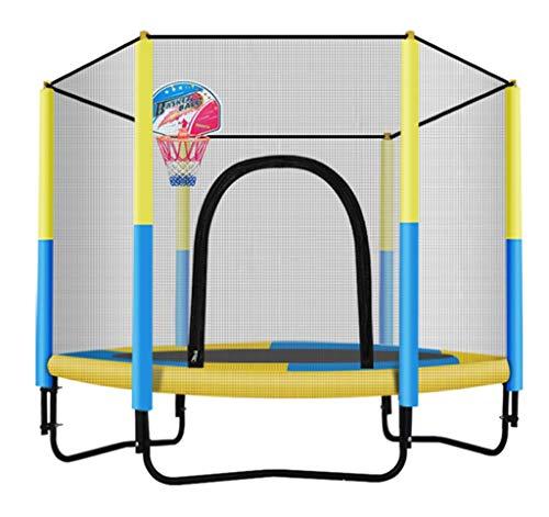 LKFSNGB mini-trampoline voor kinderen, met displaybescherming, verzinkt staal, ideaal als verjaardagscadeau voor kinderen