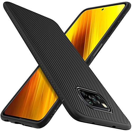 C'iBetter Hülle Kompatibel mit Poco X3 Pro/Xiaomi Poco X3 NFC, Stylisch Handy Handyhülle Schutzhülle Shock Absorption Hülle Kompatibel mit Xiaomi Poco X3 Pro Smartphone. Schwarz