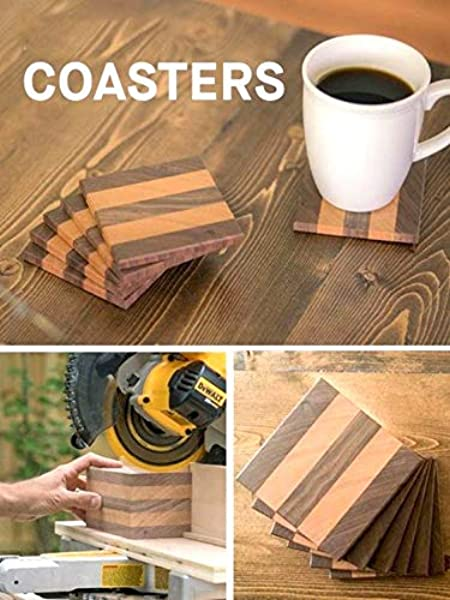 Artistic India Tree Wood Designed Coasters For Drinks Hot Cold Wooden Coaster Sets With Holder Dining Tea Coffee Table Decorative Tea Cocktail Coasters Set Of 4 3 75 X 3 75 Inch