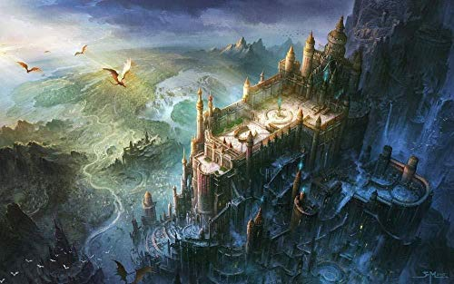 aoyuff Lord of The Rings CastleJigsaw Puzzle for Adult and Kids 500/1000/1500 Pieces Puzzle Games Wooden Jigsaw Toys Great Gift for Girls and Boy 75x50cm