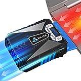 KLIM Cool ゲーミングノートパソコンクーラー 高性能冷却ファン USB給電 熱風吸引 ブルー