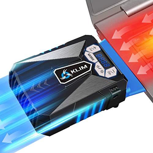 KLIM Cool Universaler Kühler für Spielekonsole Laptop PC – Hochleistungslüfter für Schnelle Kühlung - USB Warmluft-Abzug Blau[ Neue 2021 Version ]