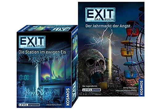 EXIT Kosmos Spiele 692865 Spiel - Die Station im ewigen EIS Buch - Der Jahrmarkt der Angst Taschenbuch