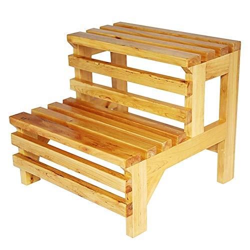 Opstapje van hout, multifunctioneel, waterdicht, barrel, huis, badmat, verwisselbaar, schoenenbank, 39 x 42 x 38 cm, opstapje cccgdgft