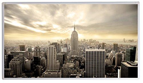 Infraroodverwarming ✓ Infraroodverwarming met ✓ GS TÜV-keurmerk ✓ elektrische verwarming met stekker voor stopcontact ✓ 5 jaar fabrieksgarantie ✓ (New York uit vogelperspectief, 300 watt)