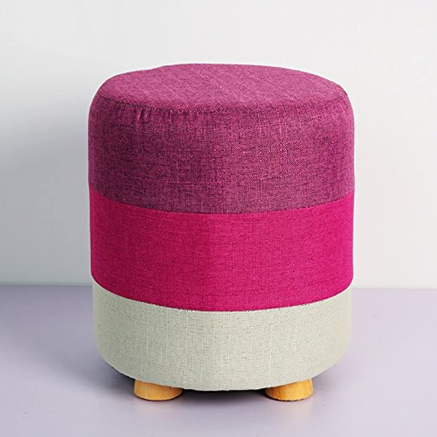 High Elastic Sponge Cushion Stool, Creative wear Stool Fashion Small Stool, Strong and Durable (color   D)