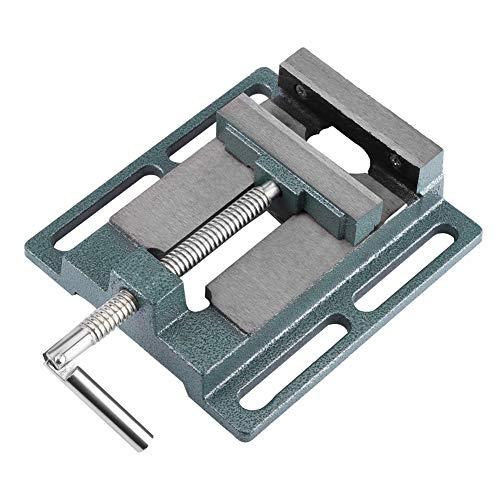 Tornillo de banco para taladro de columna, banco con pinza de banco y apertura paralela, mesa de estaño, apertura de mordaza, 110 mm, ancho de mandíbula 20 mm