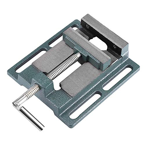 4'/110mm Drill Press Vice Bench Clamp Woodworking Drilling Machine Heavy Duty Mechanic Bench Vise Table Top Clamp Press Locking Lock Swivel Base for Pillar Drill/Hand Clamp