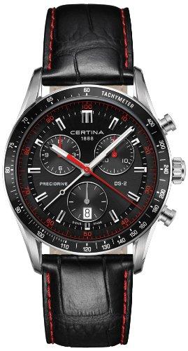 Certina Herren-Armbanduhr XL Chronograph Quarz Leder C024.447.16.051.03