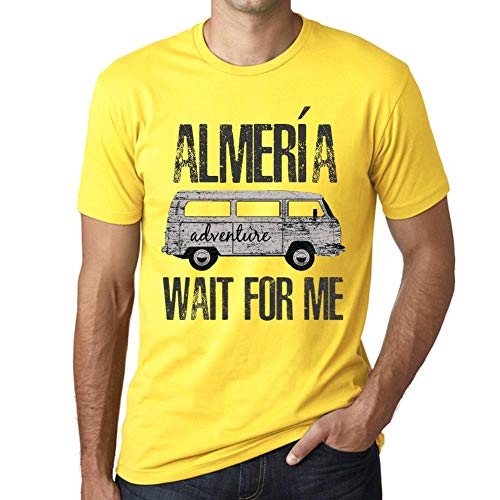 One in the City Hombre Camiseta Vintage T-Shirt Gráfico ALMERÍA Wait For Me Amarillo