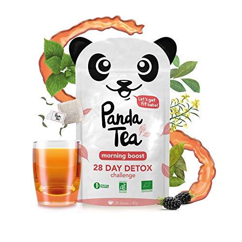 Panda Tea–Morning Boost–té orgánico–28bolsas de algodón